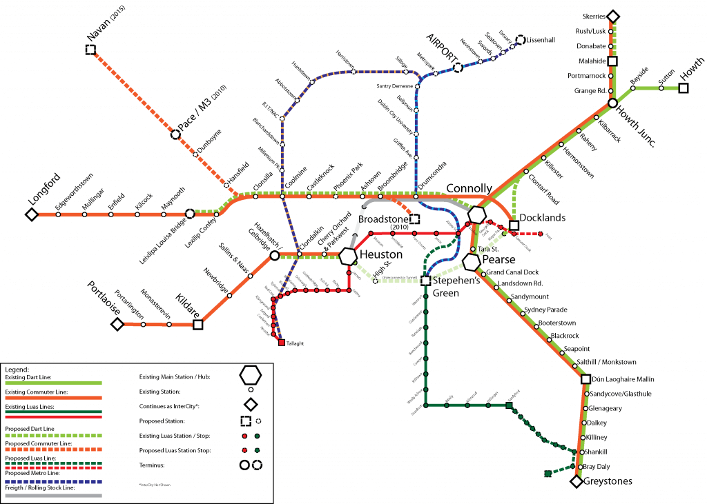 dublin ulaşım haritası